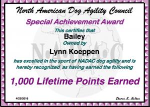 Bailey 1000 Pts